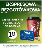 Zapłać kartą Visa i odbierz bon na kawę za 1,99 zł @żabka
