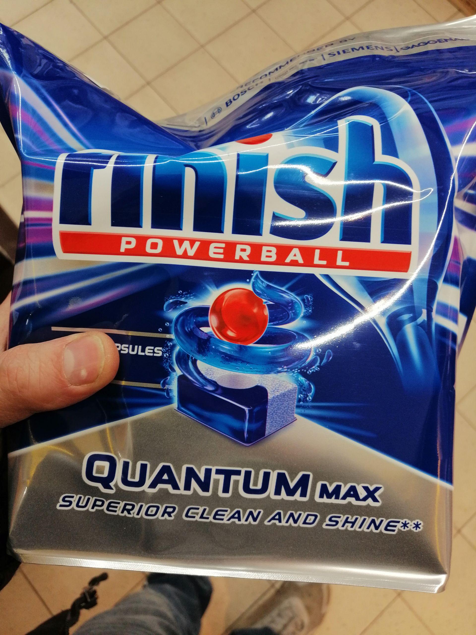 Finish Quantum max 100 tabletek. Tabletki do zmywarki. Najtaniej stacjonarnie. Bez kosztów wysyłki. Biedronka Stargard