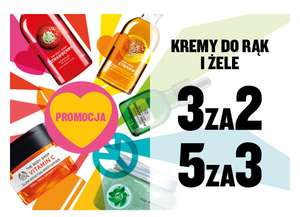 Kremy do rąk i żele pod prysznic - 5 za 3, 3 za 2 @ The Body Shop