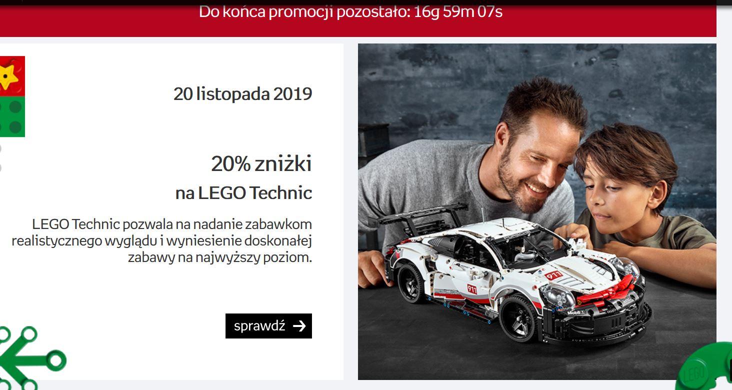 -20% na wszystkie zestawy LEGO Technic w Empiku