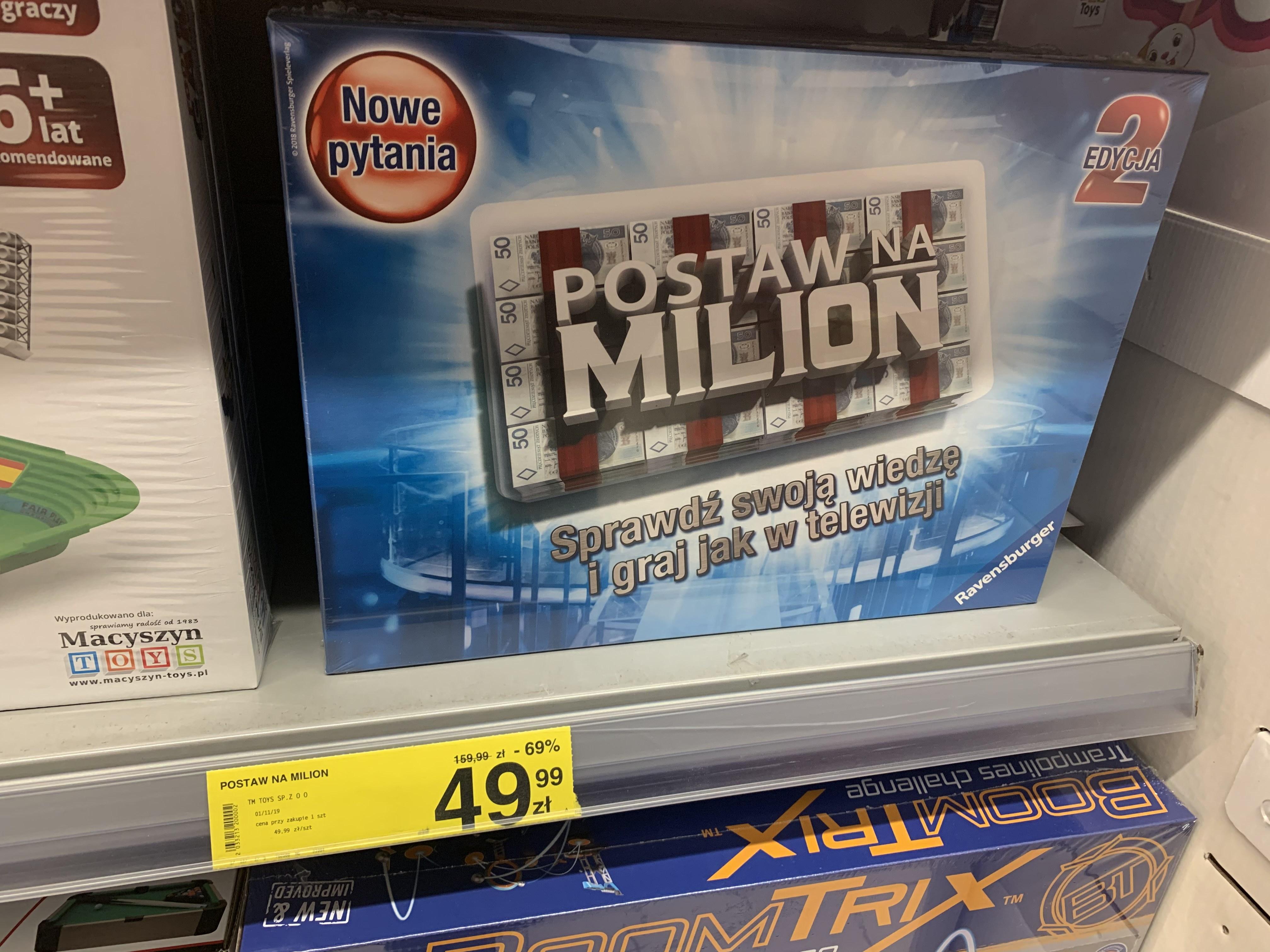 Postaw na milion Carrefour gra planszowa edycja 2