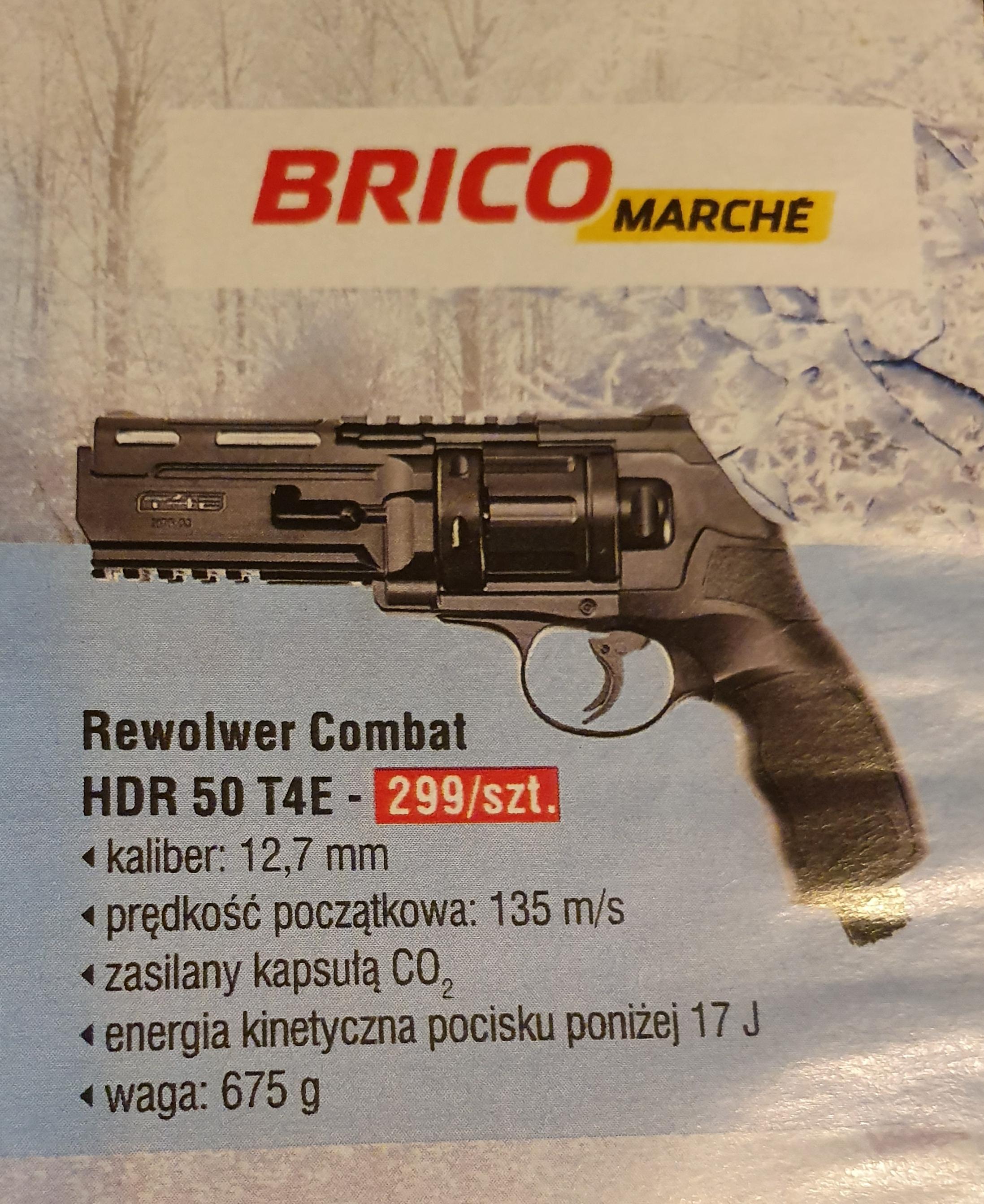 Rewolwer CO2 RAM Combat HDR 50 T4E na kule gumowe #BricoMarche