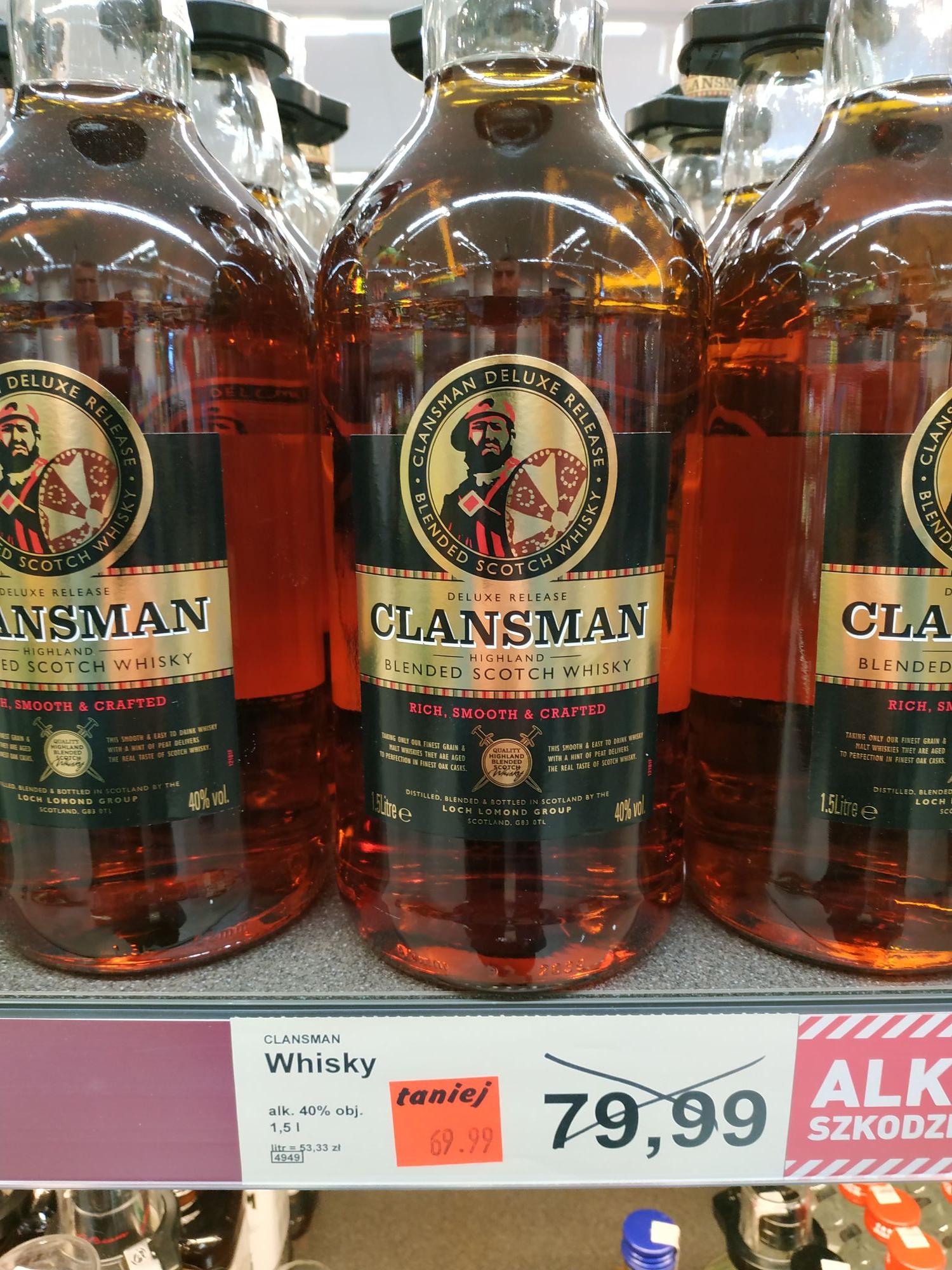Aldi Clansman Blended Whisky 1.5l