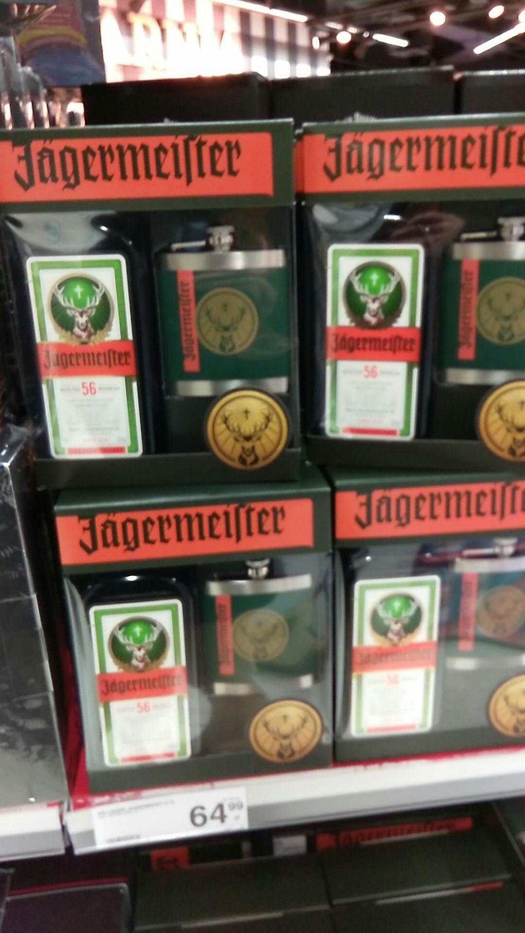 Jägermeister 0.7l + piersiówka Carrefour