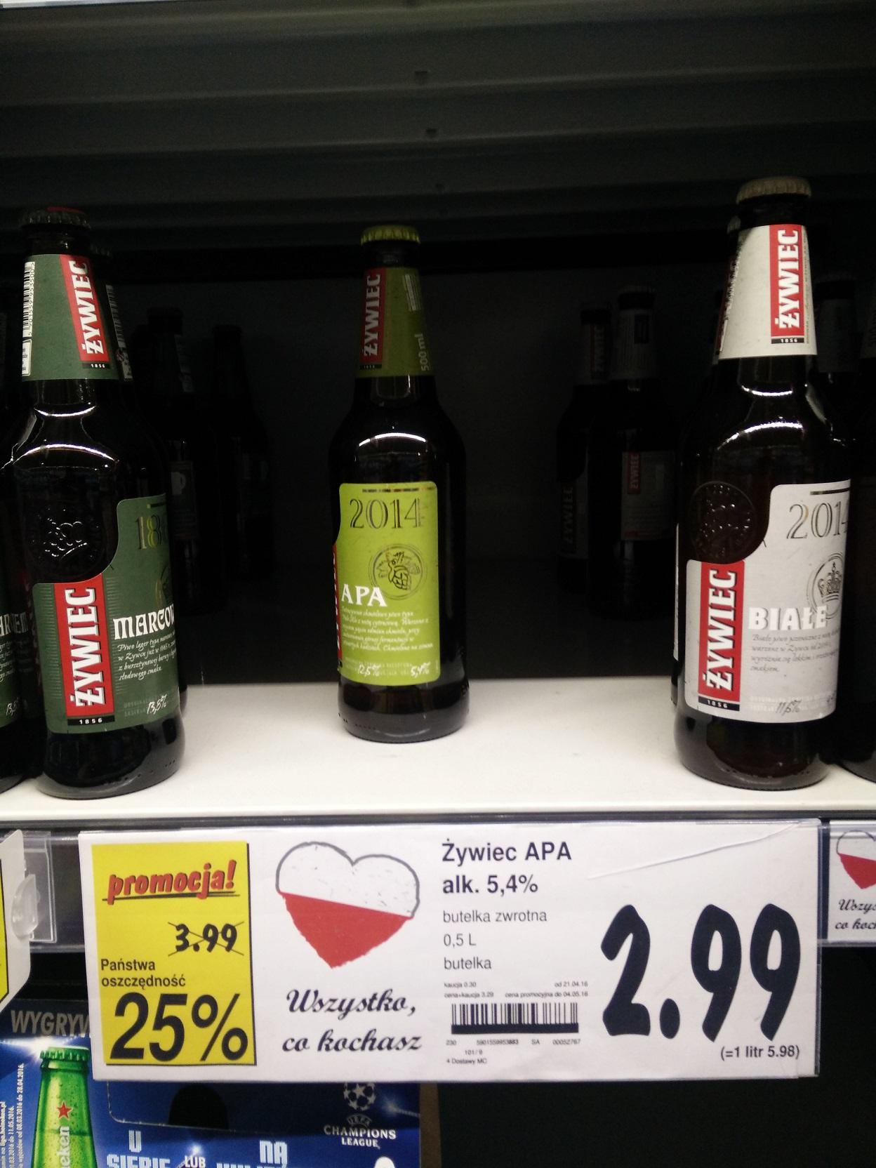 [PIWO] Żywiec APA w bardzo dobrej cenie w Kauflandzie w Nysie