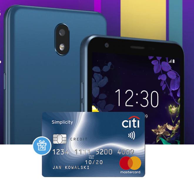 Smartfon LG K30 z darmową kartą kredytową Citi Simplicity!