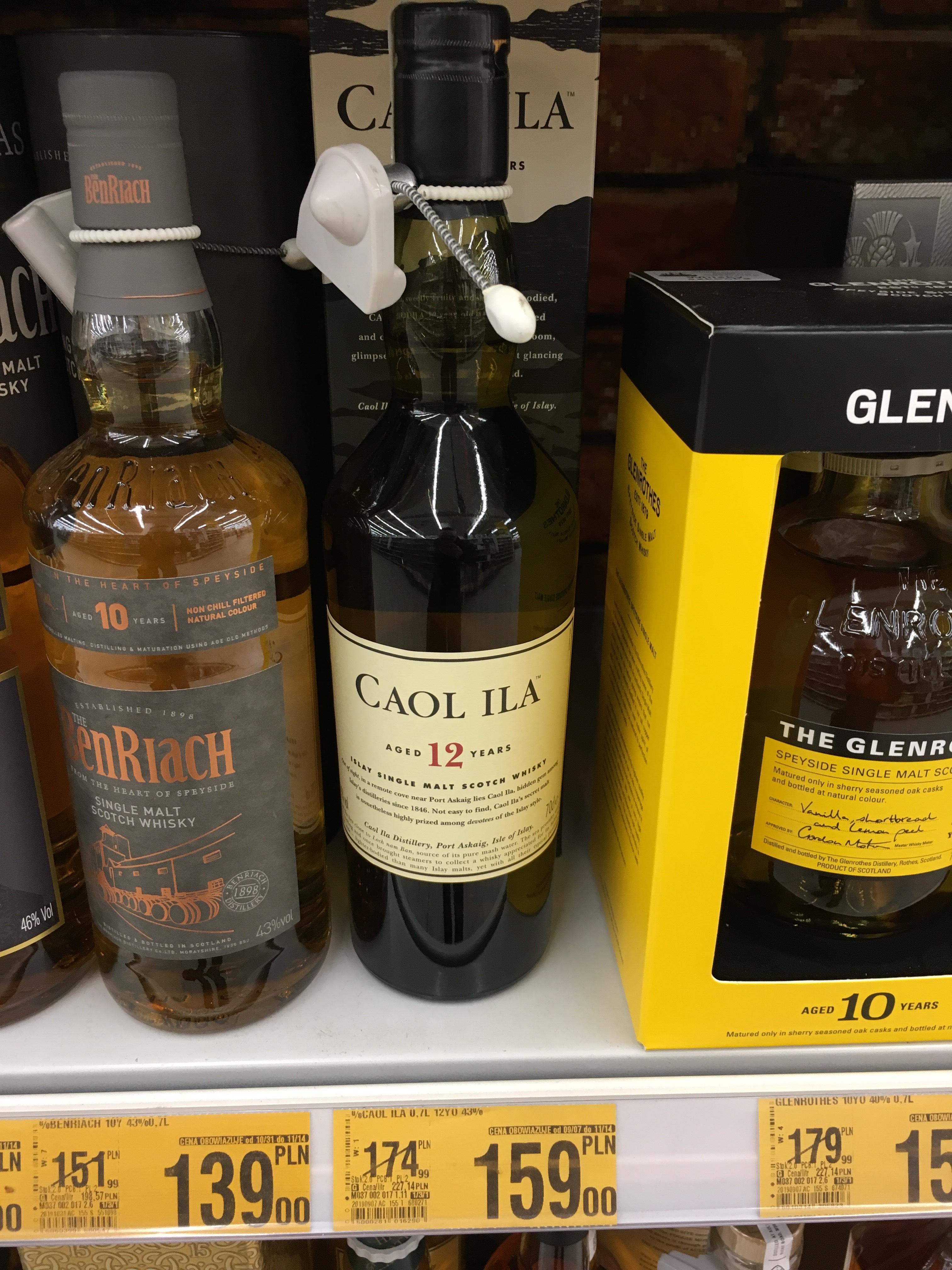 Whisky single malt Caol Ila 12yo 0,7l auchan Marki M1