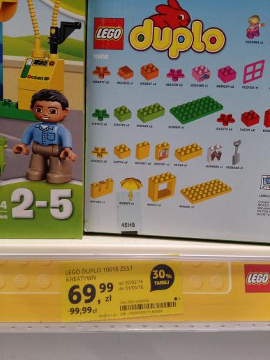 Lego duplo 10618 taniej o 30% @ tesco