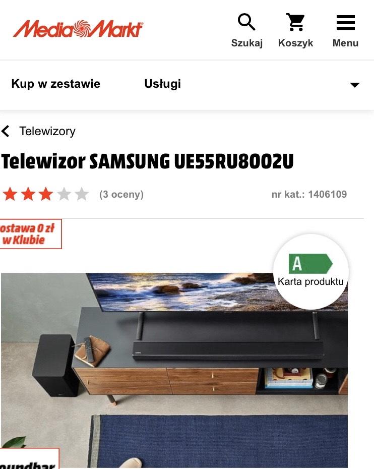 Telewizor Samsung 55RU8002U