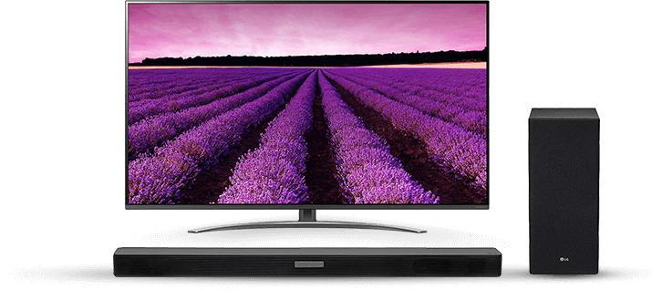 Telewizor LG LED 55SM8600 oraz Soundbar LG SK6F
