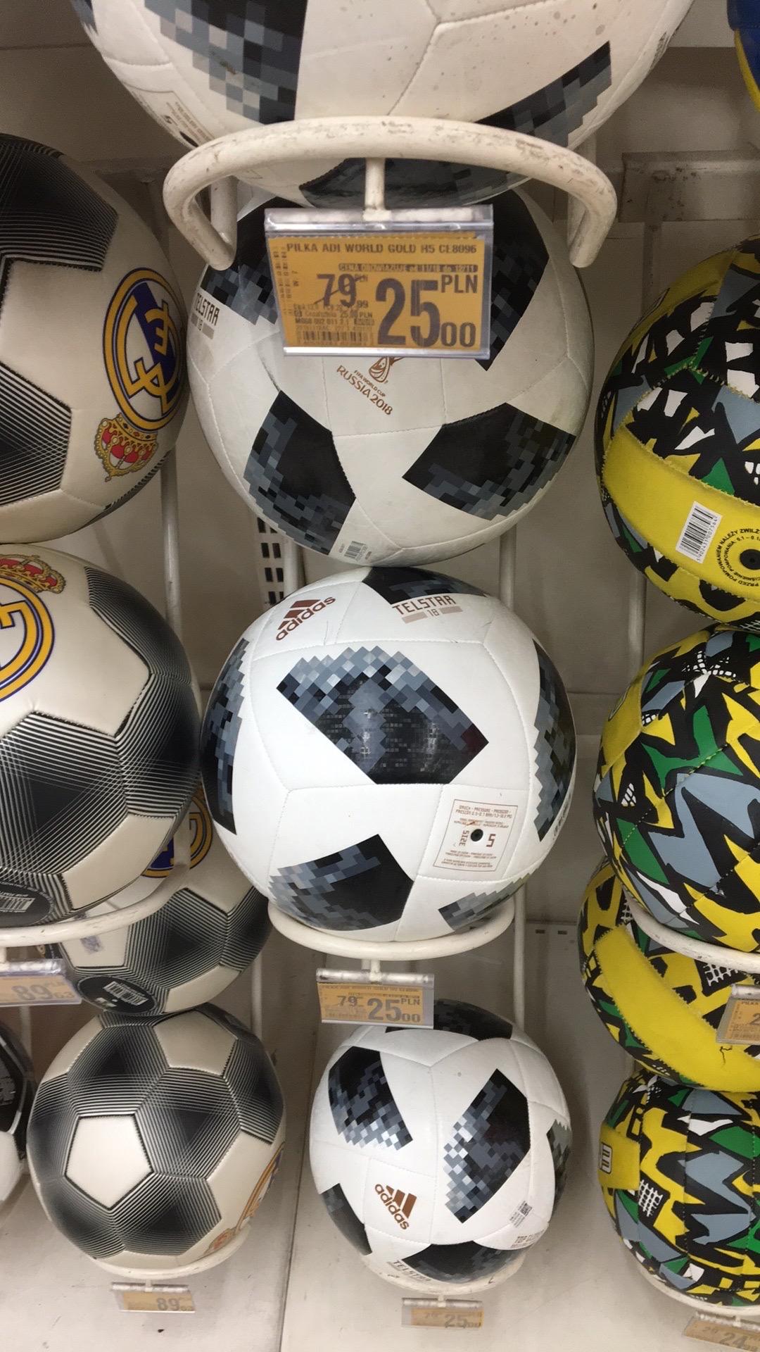 Piłka Adidas TELSTAR World Cup 2018 @Auchan