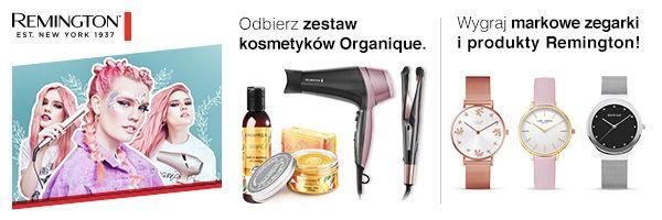 Allegro - zestaw kosmetyków Organique gratis przy zakupie produktu Remington