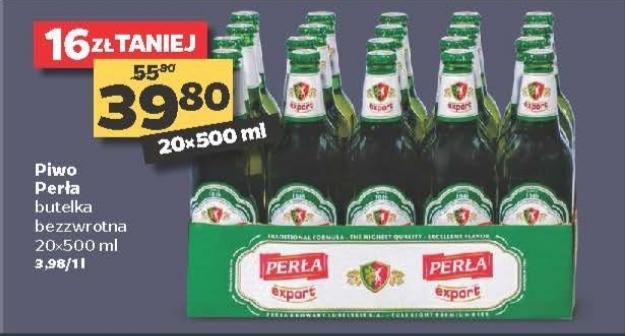Perła Export,cena za 20 butelek@Netto 28.11-30.11
