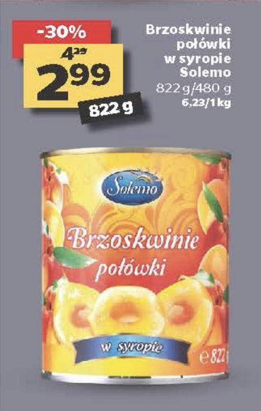 Brzoskwinie w syropie Solemo 822g/480g - Netto