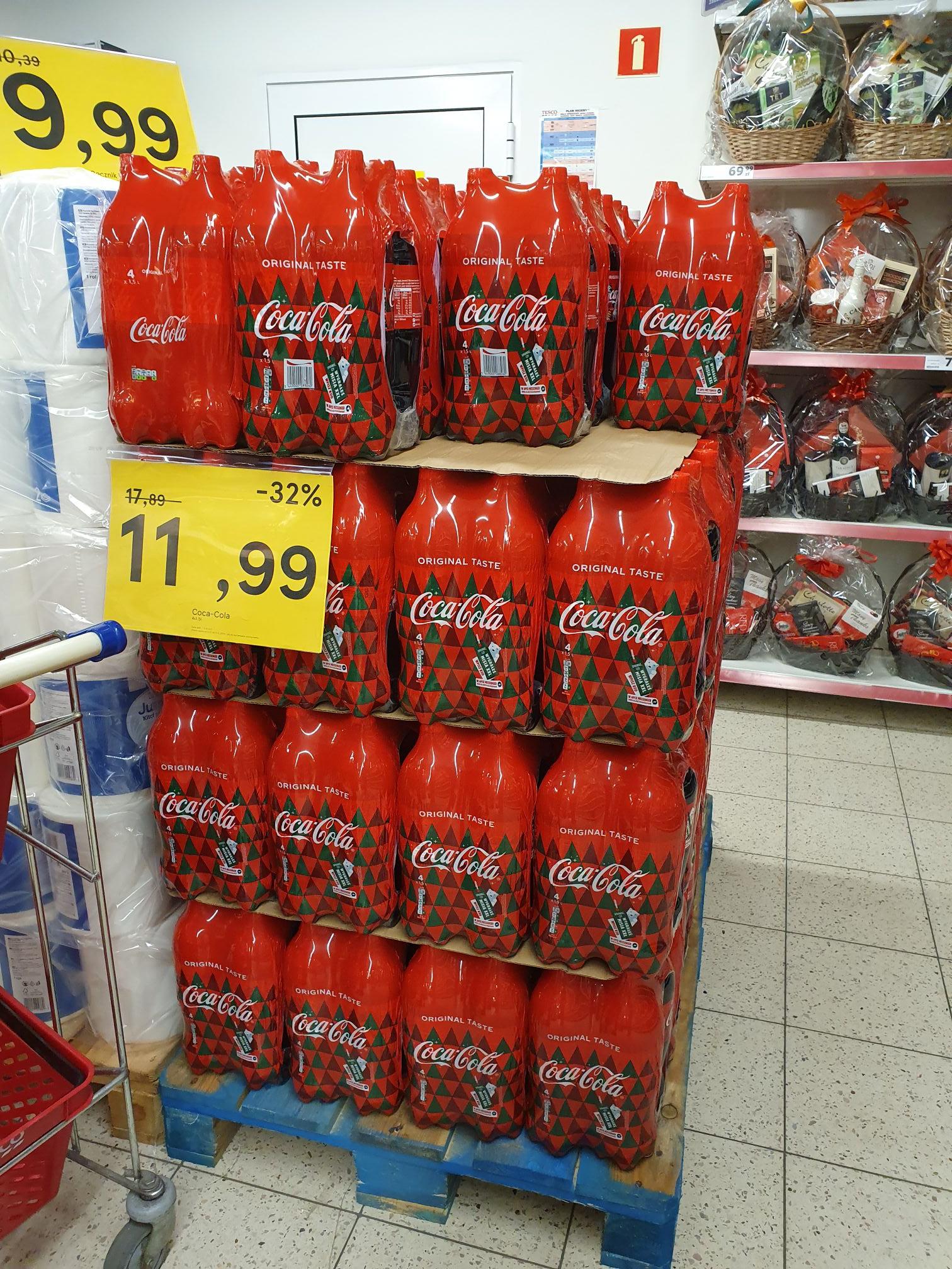 4-pak Coca-Cola, Tesco
