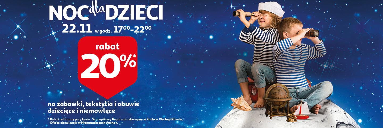 Auchan -20% Noc dla Dzieci
