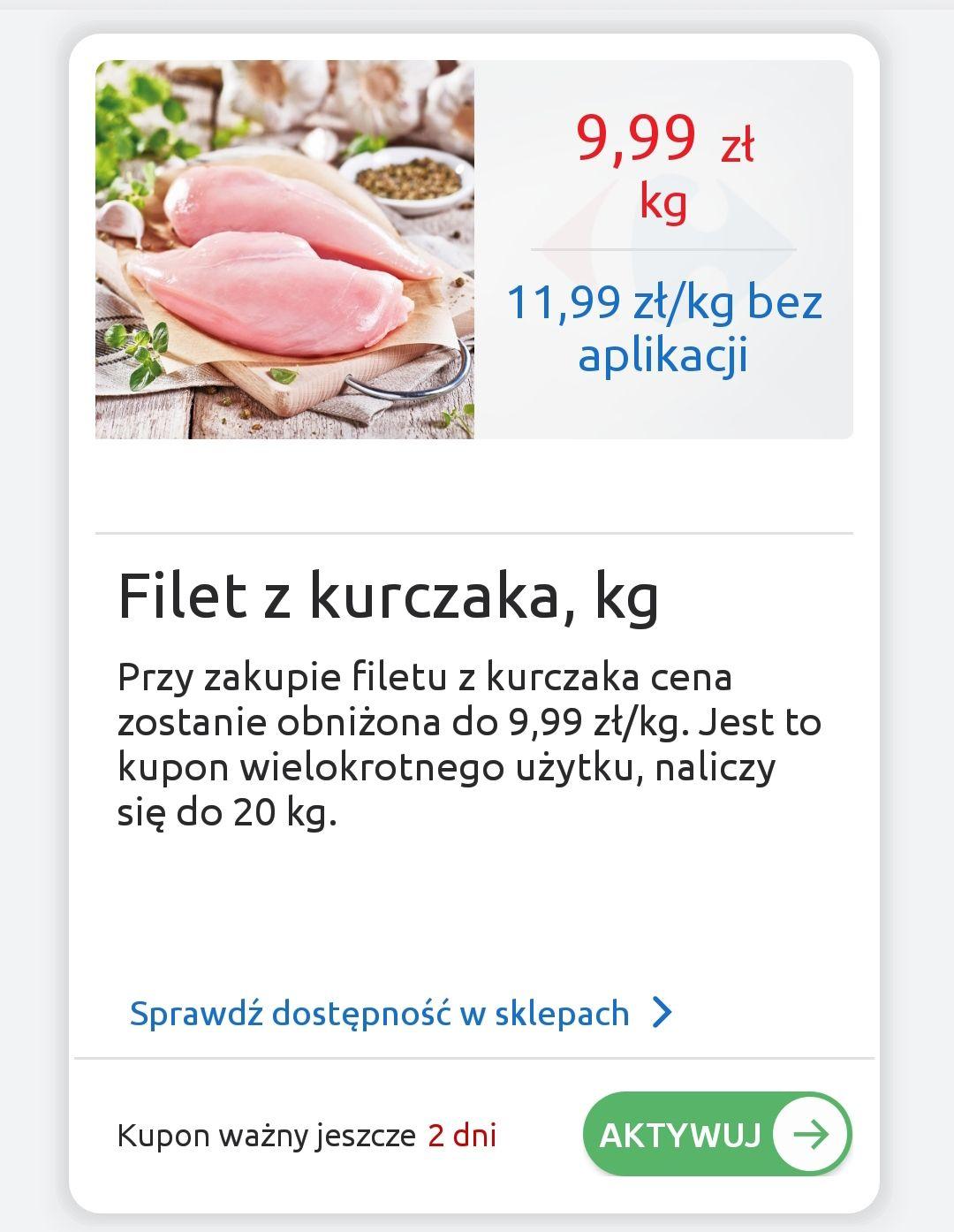 Filet z kurczaka 8.99zł Carrefour