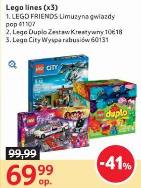 Lego 41107, 10618 oraz 60131 41% taniej (Friends, City, Duplo) @ Tesco