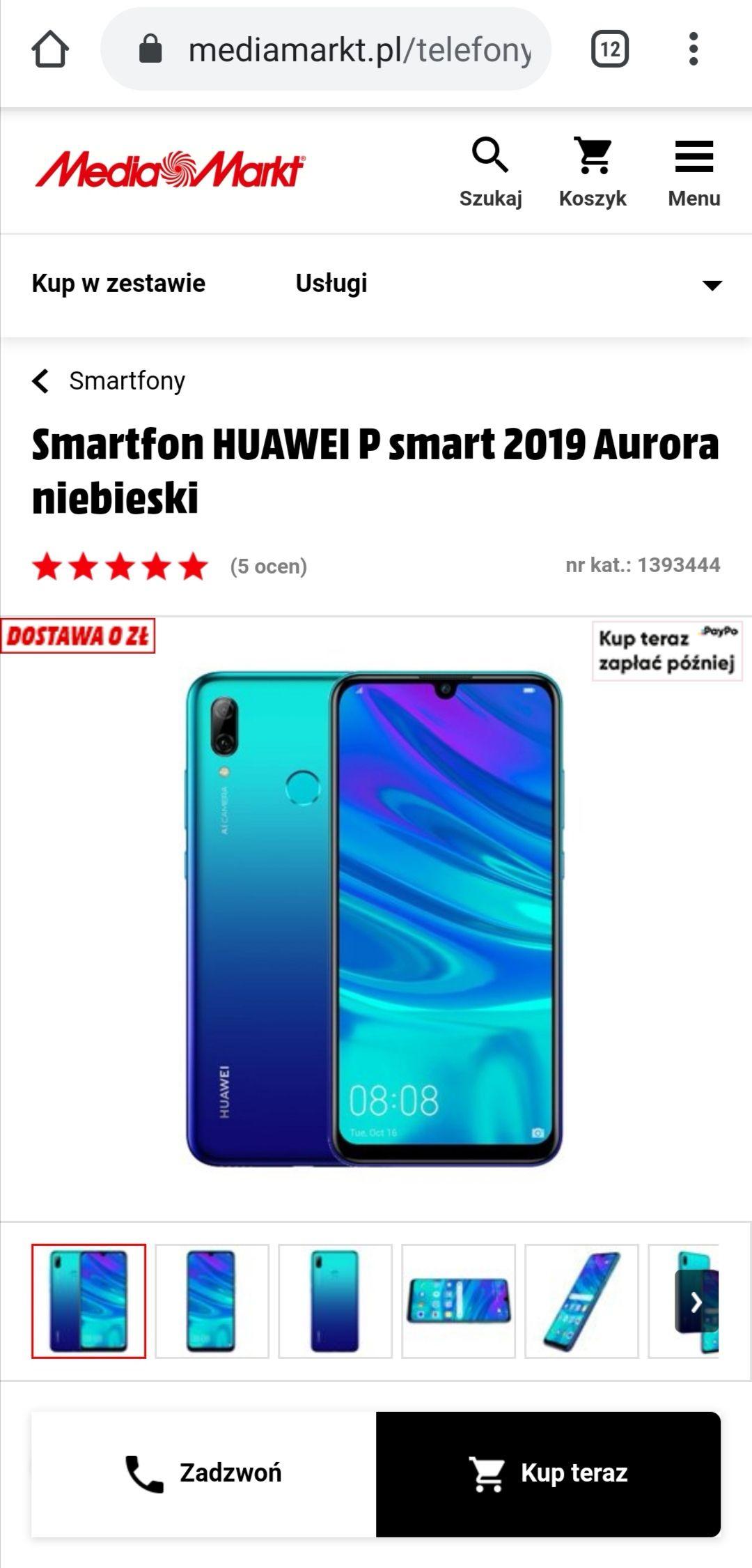 HUAWEI P Smart 2019 w Media Markt i wybranych Media Expert