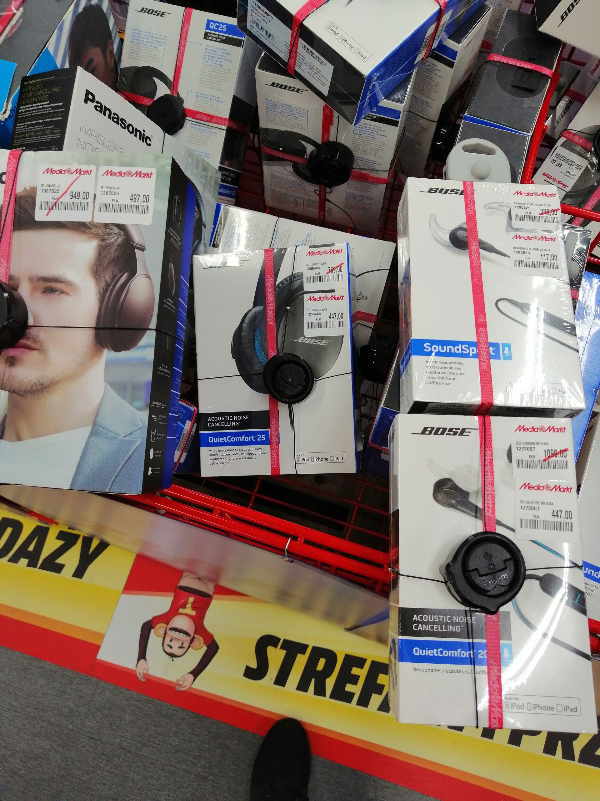 Przeceny na słuchawki w media Markt kaskada w Szczecinie