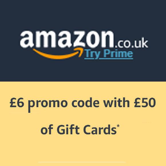 Amazon.co.uk - 6 GBP przy zakupie Gift Card za 50 GBP