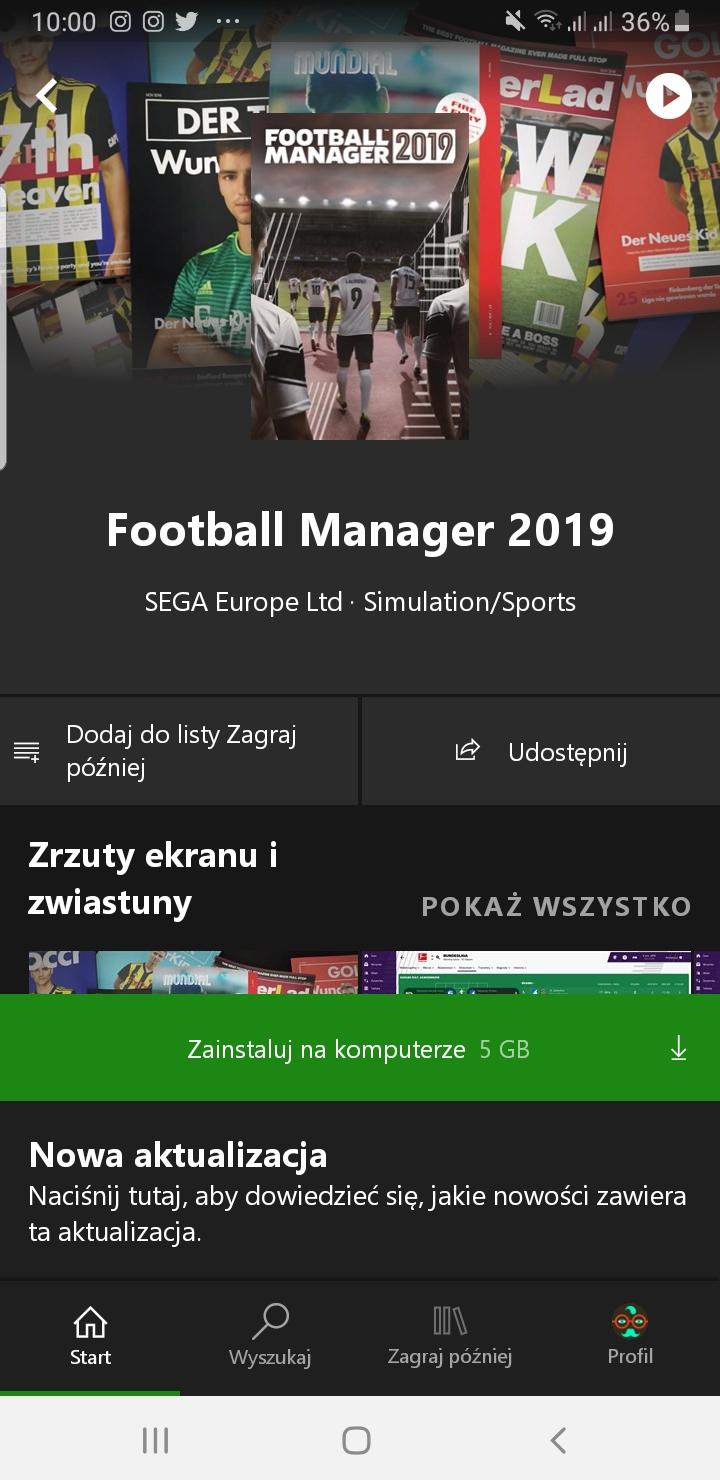 Football Manager 2019 trafia do Xbox Game Pass na PC