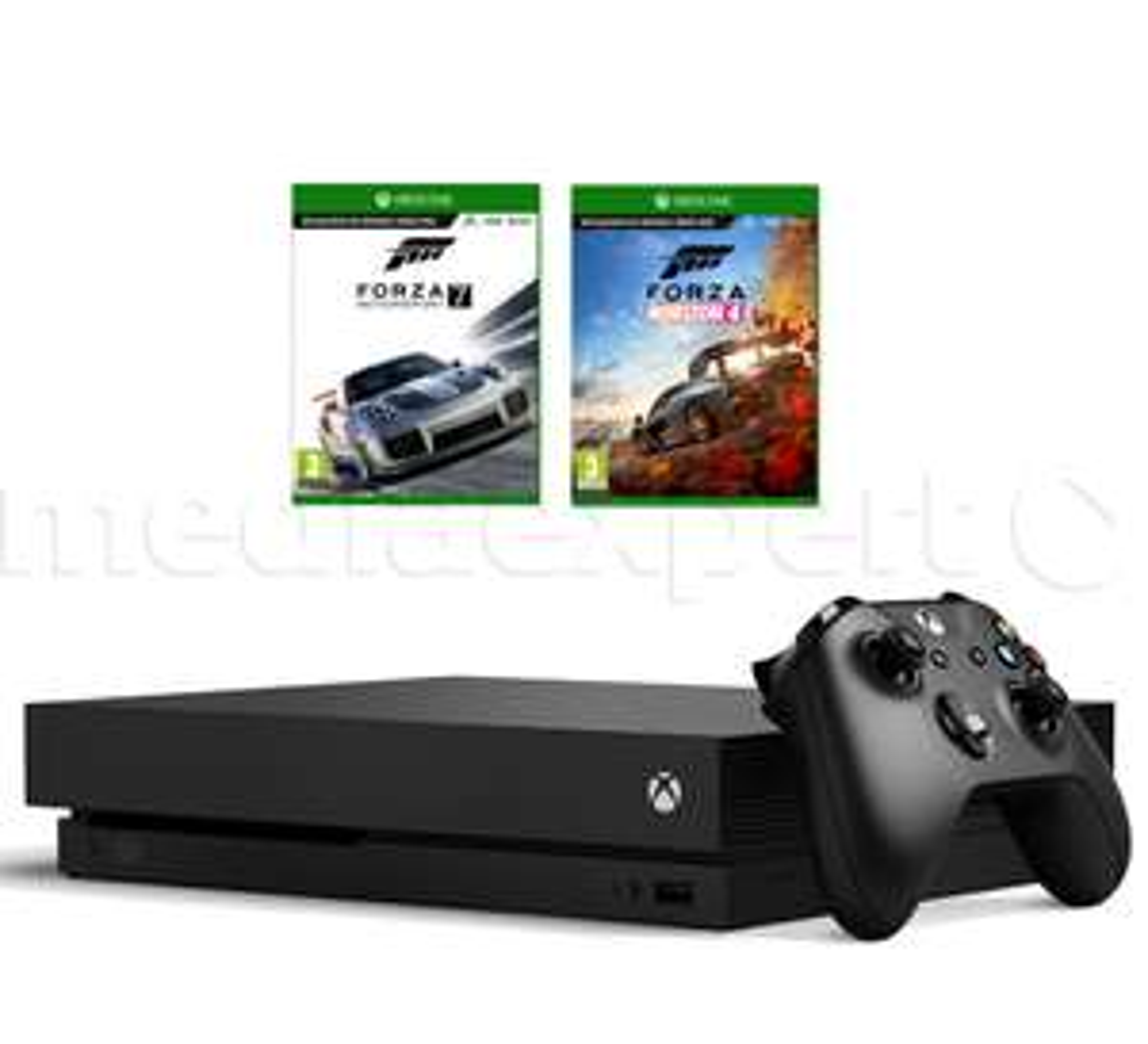 Konsola MICROSOFT XBOX ONE X 1TB + Forza Horizon 4 + Forza Motorsport 7