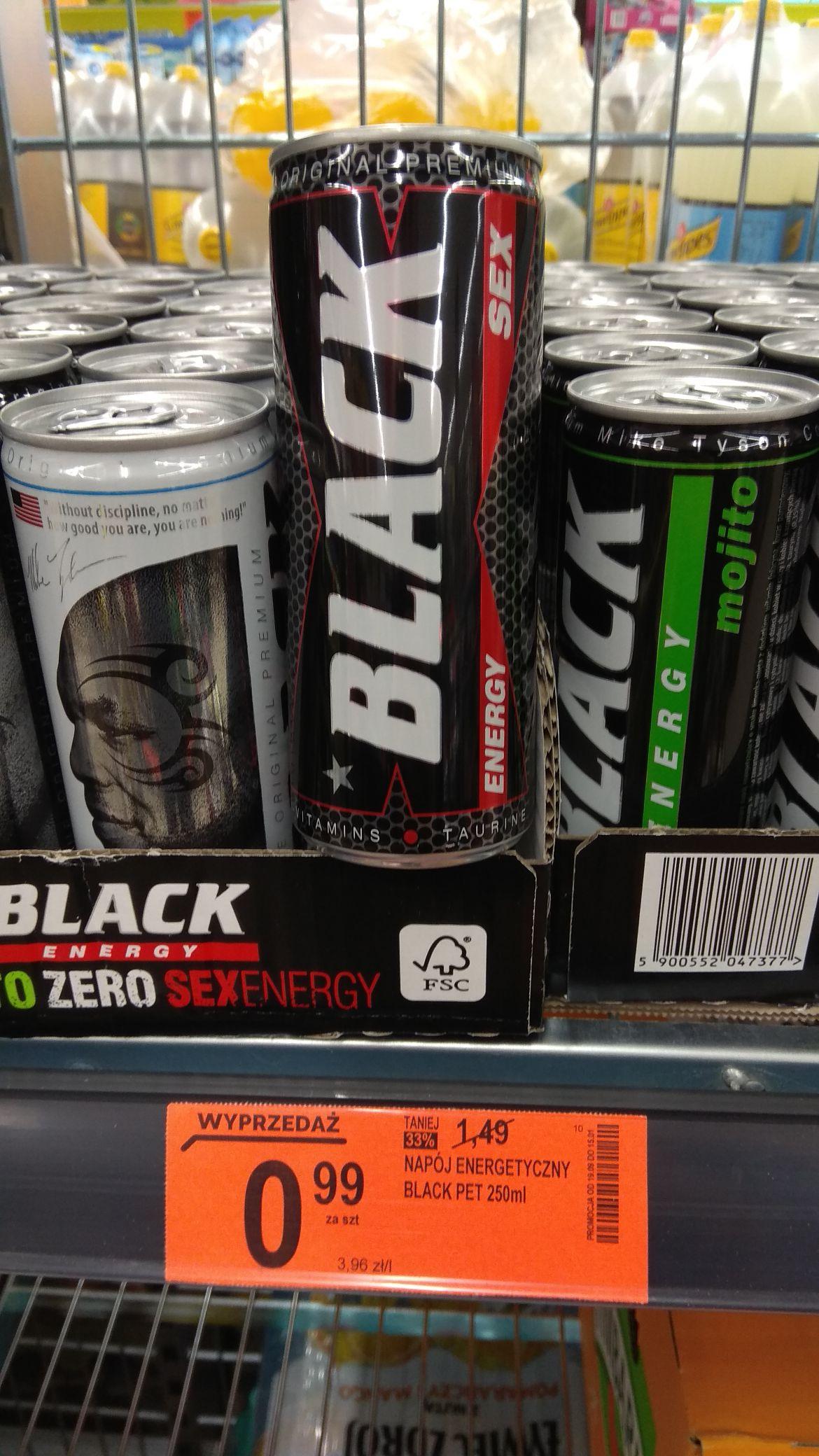 Black Energy Drink Sex, Zero i Mojito po 99gr. w Biedronka.