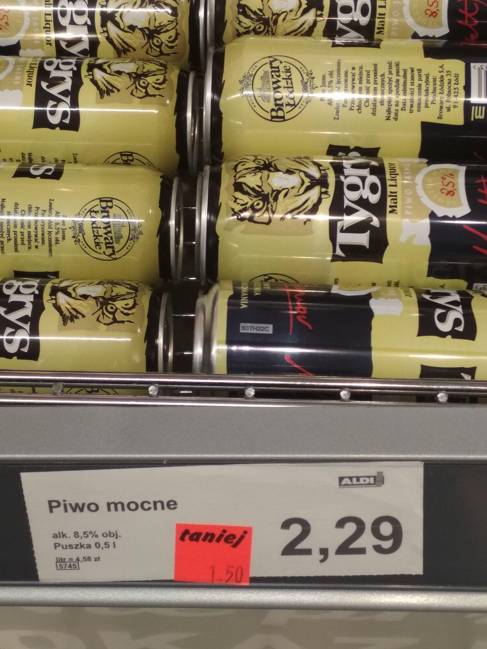 Piwo Tygrys Browary Łódź 8,5%