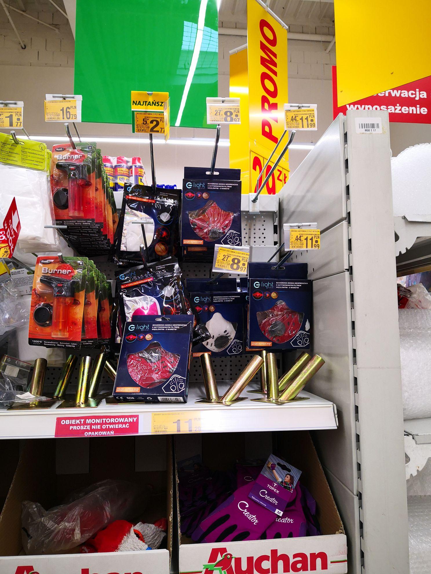 Maski antysmogowe Auchan Krokus