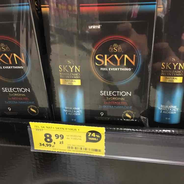zestaw SKYN: żel intymny 80 ml + 9 prezerwatyw w Tesco (SCC KATOWICE)