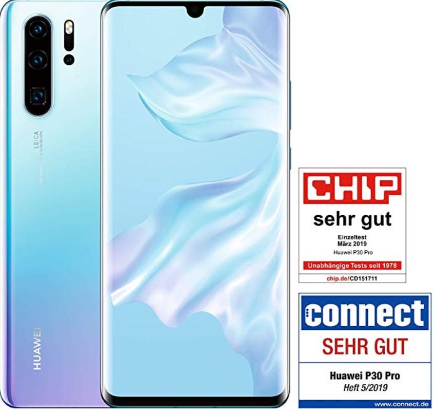 Smartfon HUAWEI P30 Pro -mocna wersja 8/256 GB ROM (Breathing Crystal) Amazon WHD jak nowy-stan idealny 5 sztuk w cenie 632,31€ z VAT PL