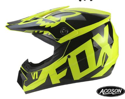 Kask Full-Face Motocross Rower Hulajnoga (26 różnych wzorów)