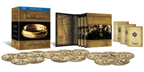 Władca Pierścieni: Trylogia - edycja rozszerzona (15 płyt) na Blu-Ray za około 92zł @ Zavvi