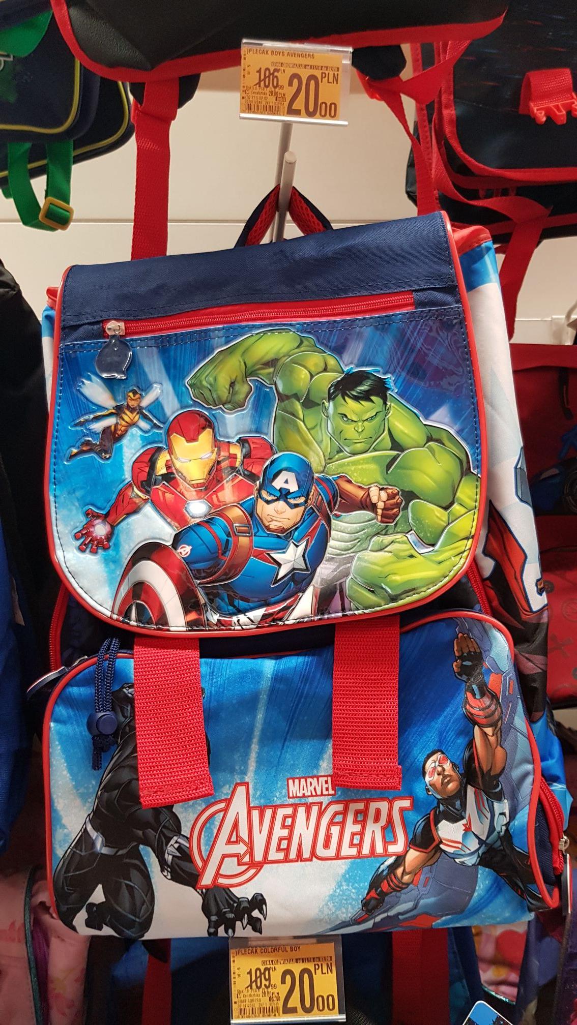 Plecaki Marvel i Disney (Auchan, Warszawa, ul. Modlińska)