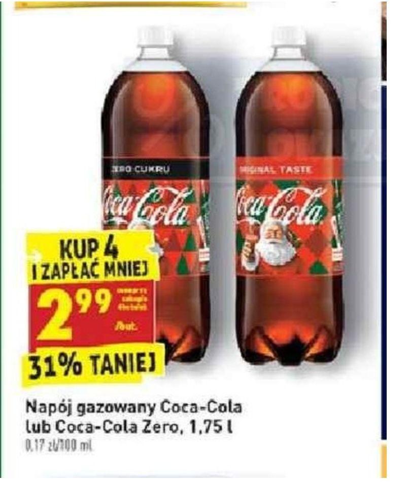 Coca-Cola zwykła i zero 1.75l. Biedronka
