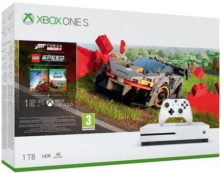 Konsola Xbox One S 1TB + Forza Horizon 4 + LEGO Speed Champions DLC i inne zestawy Xbox w niższej cenie (także Pady po 169zł)