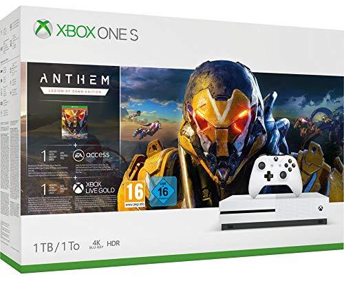 Konsola XBOX ONE S + gra Anthem 175,71 €. z dostawą.