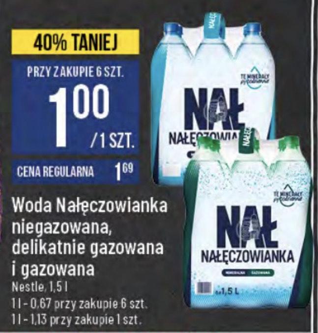 Woda Nałęczowianka 6x1,5L za 6zł (różne rodzaje) - POLOmarket