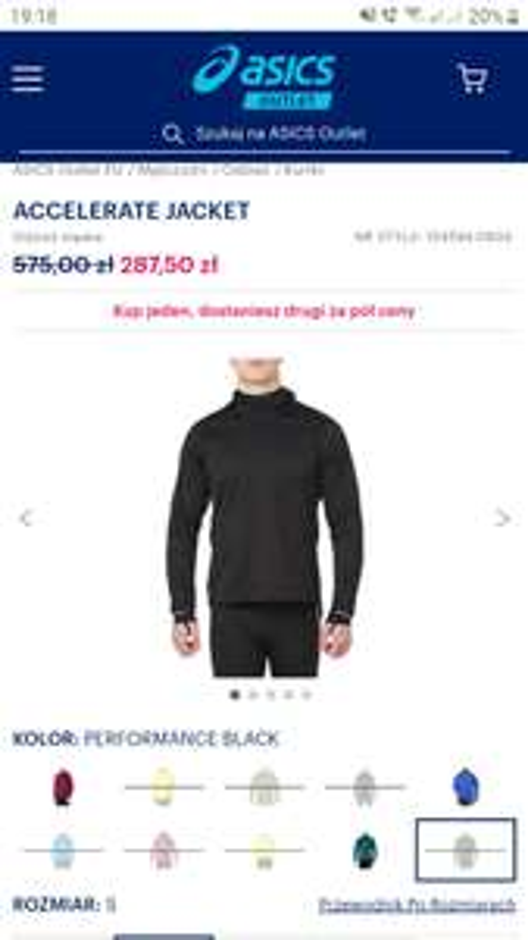 Przeciwdeszczowa kurtka do biegania Asics Accelerate