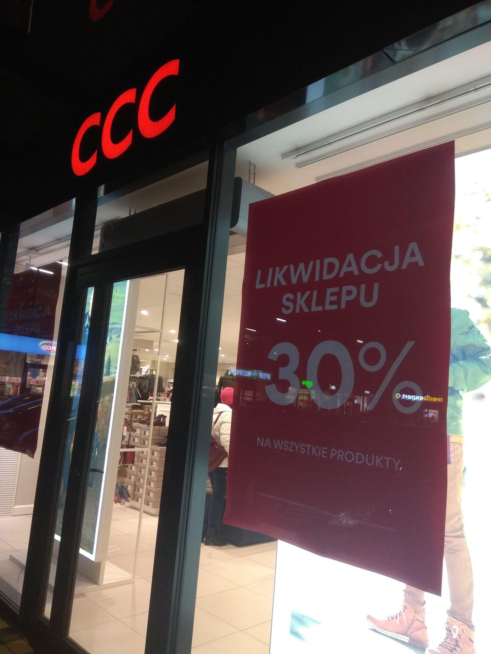 Likwidacja sklepu CCC w Pruszczu Gdańskim