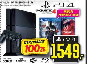 Playstation 4 + gry Driveclub i Uncharted 4 - za 1549 zł @ neonet