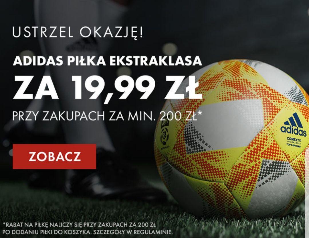 Piłka Adidas Ekstraklasa za 19,99 przy zakupach za 200 zł.