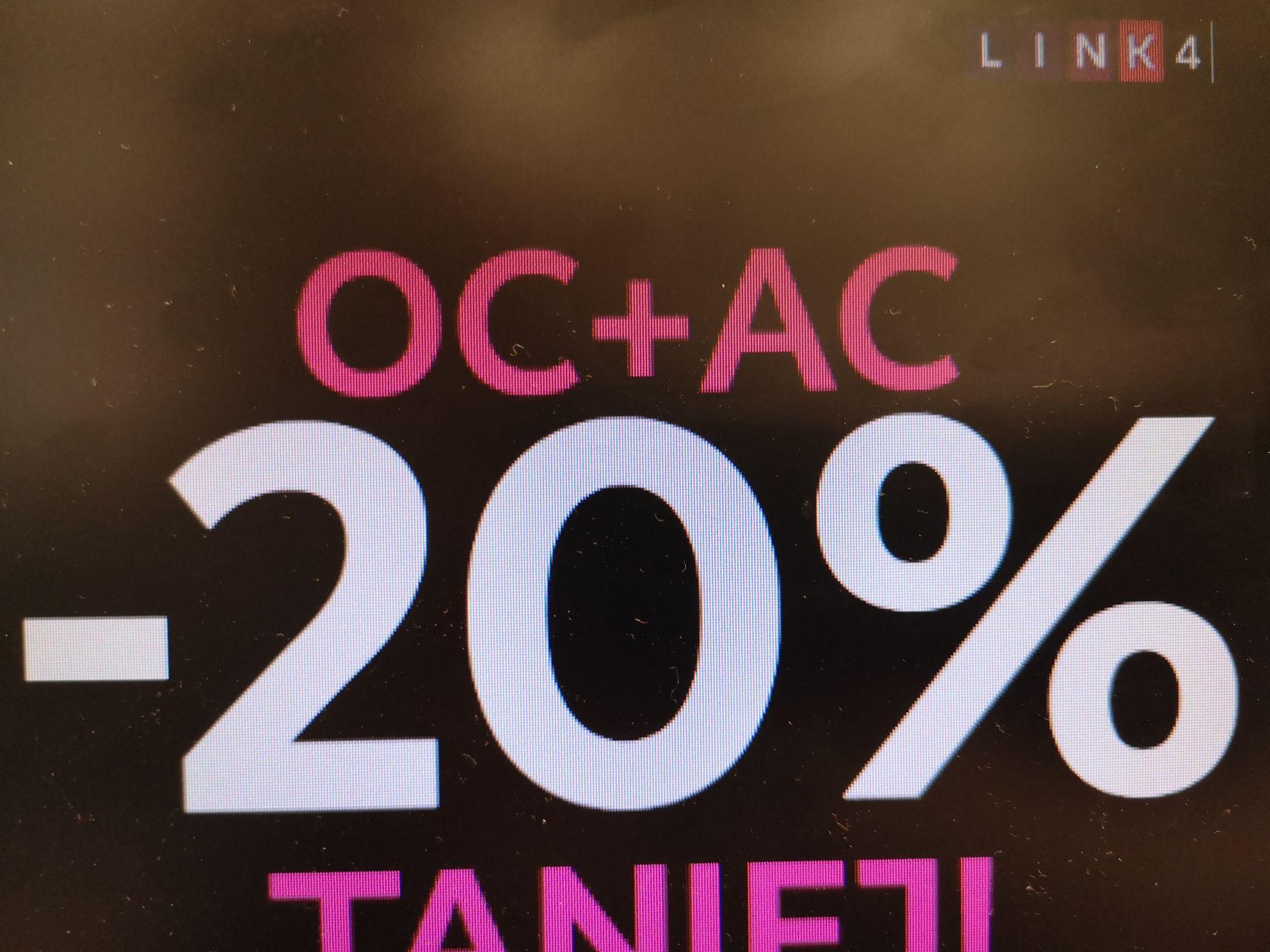 Ubezpieczenie 20% taniej od Link4