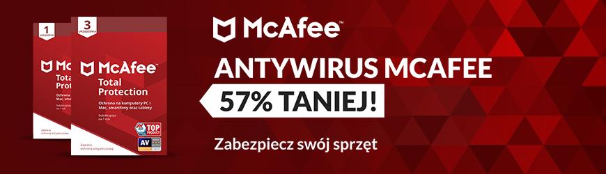 McAfee 57% taniej