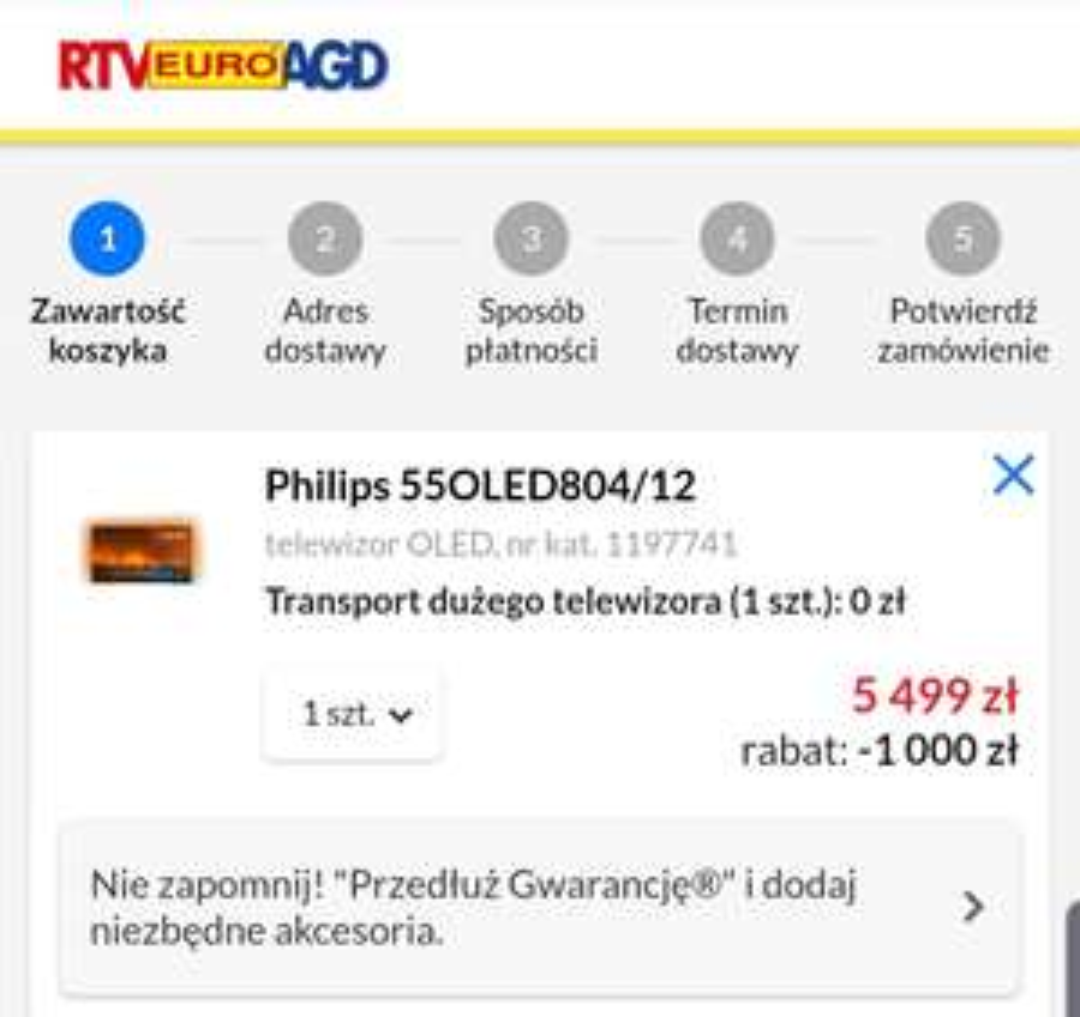 TV Philips 55oled804 RTV euro AGD (czytaj opis)