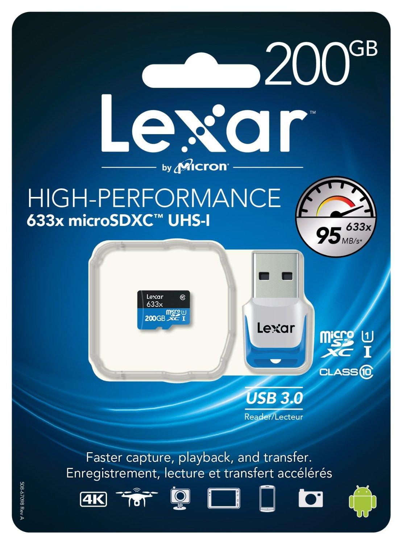 Lexar MicroSDXC 200GB @ Amazon.es