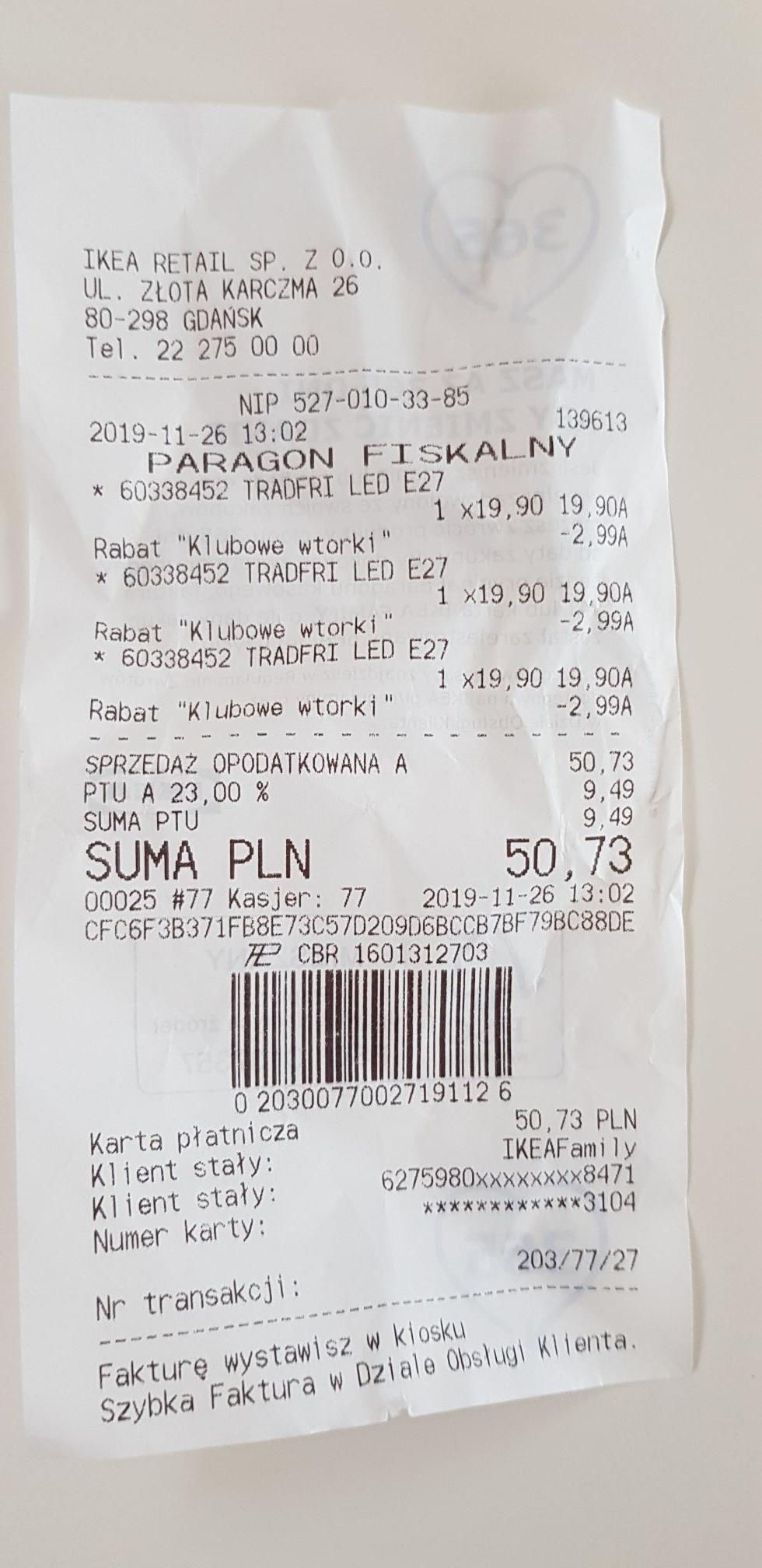 Żarówki Ikea tradfri 1000lm. Ikea Gdańsk