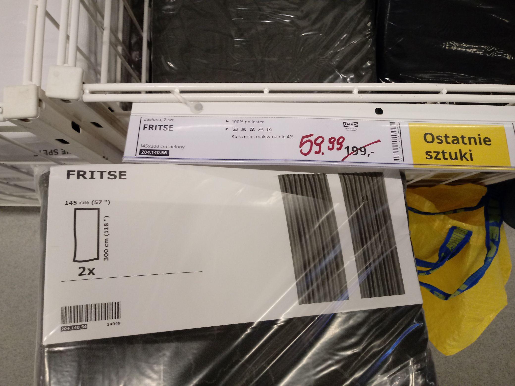 Ikea Zasłony Fritse