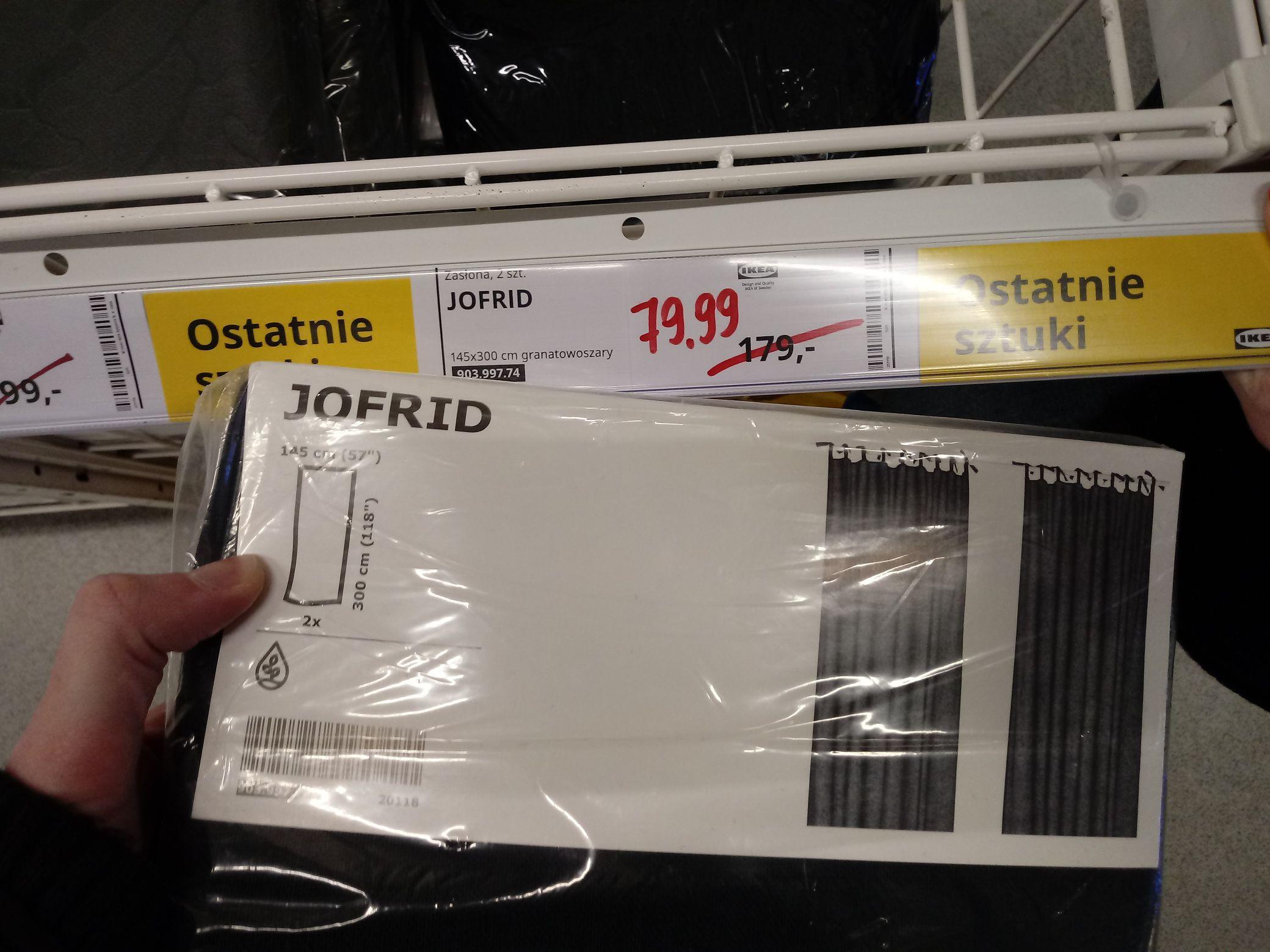IKEA zasłony JOFRID